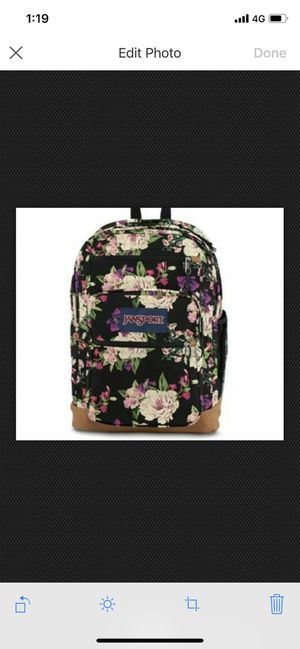 JanSport cool student 15 inch laptop backpack black bouquet Floral for Sale in Hillsboro Beach, FL
