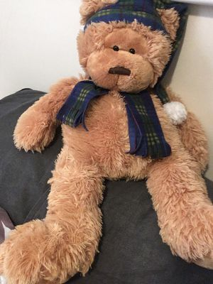 Vintage Collectible Oversized Gund Stuffed Teddy Bear with Sleeping Cap & Scarf-Rare Fine Toy Plush for Sale in Philadelphia, PA