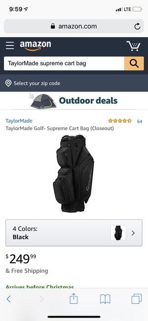 TaylorMade supreme cart bag - TRADE for Sale in Scottsdale, AZ