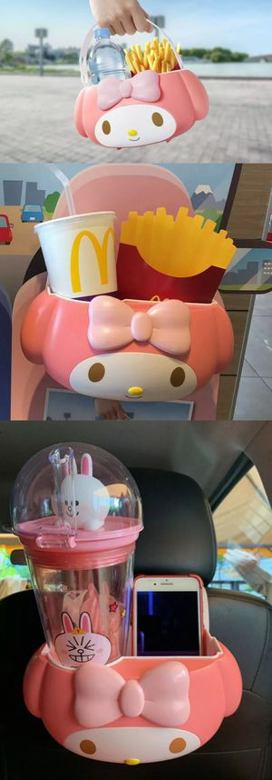 Brand New My Melody McDonalds Bucket Sanrio French Fry Drink Holder Carrier Bucket Purse Bag Lunch Box Pale hello kitty hellokitty for Sale in City of Industry, CA