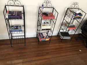 Bookshelves - black metallic - $10 each for Sale in Norfolk, VA