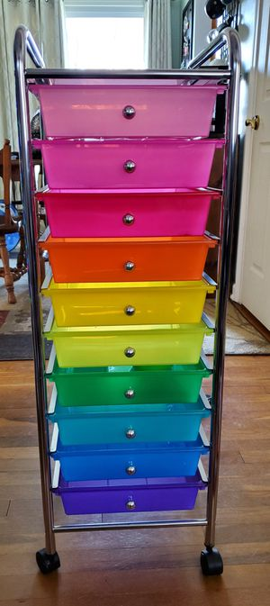 10 drawer rolling cart for Sale in Groesbeck, OH