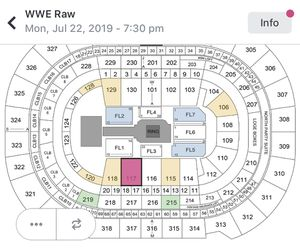 WWE RAW TICKETS 7/22 @ AMALIE ARENA for Sale in Tampa, FL