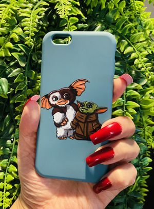 Brand new cool iphone 6, 6s REGULAR case cover rubber silicone yoda and gremlins mens guys hypebeast hypebae womens girls hype swag for Sale in San Bernardino, CA