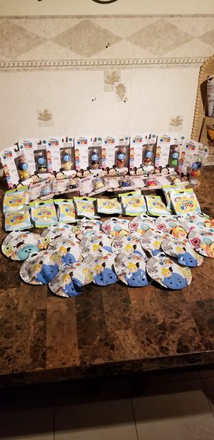 LOT of 49 packs - New Disney Tsum Tsum Series 1, 3, 4, 5 & 10 Mystery Packs, Unopened for Sale in Florissant, MO