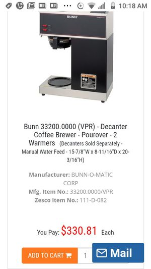 Bunn Commerical Coffee Maker for Sale in Winter Haven, FL