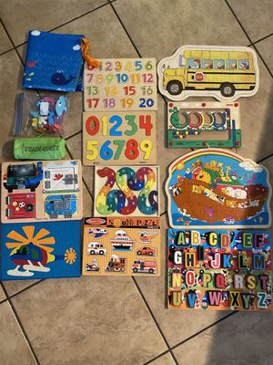 Various toddler puzzles and games for Sale in Phoenix, AZ