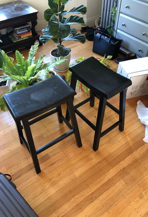 Black Stained Wooden Stools for Sale in San Francisco, CA