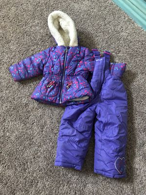 Like new 18 month toddler Pacific trail snow suit coat and snow bibs for Sale in Spanaway, WA