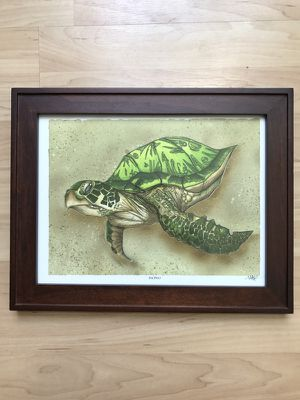 "Mike Rohner Art ""Honu"" with Frame for Sale in San Diego, CA"