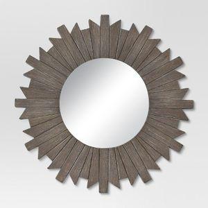 "Gray Sunburst Decor Wall Mirror 28"" for Sale in Fort Lauderdale, FL"
