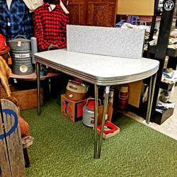 Mid Century Chrome and Grey Formica Table with Leaf for Sale in Tacoma,  WA