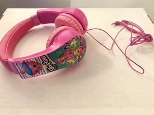 PINK SHOPKINS LITTLE GIRLS HEADPHONES for Sale in Colorado Springs, CO