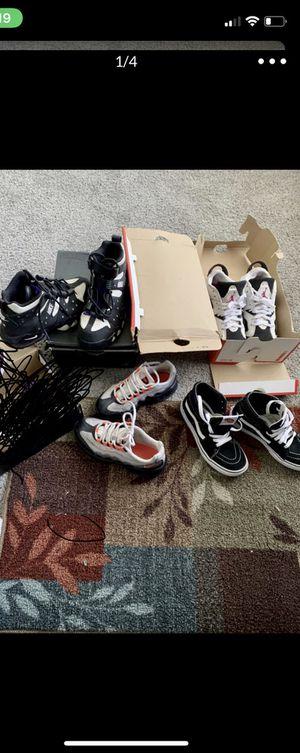 Kids shoes clothes size 1.5 & big kids size 5.5 & 6 for Sale in Detroit, MI