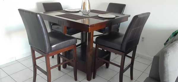 Wood Dining Table and 4 chairs for sale
