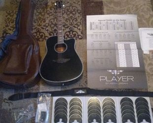 """Keith Urban Acoustic """"PLAYER"""" Guitar Package: Immaculate Condition/Used for less than an hour. for Sale in Glendale,  AZ"""