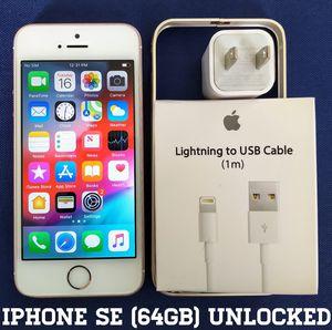 Iphone SE (64GB) Factory-UNLOCKED + Accessories for Sale in Alexandria, VA
