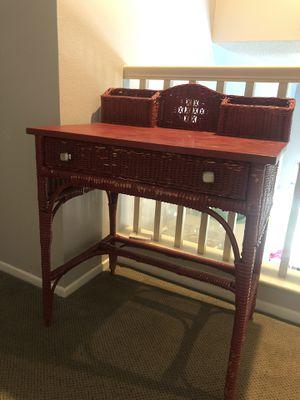 Antique Wicker Desk for Sale in Corona, CA