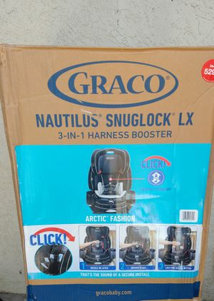 ( Brand New)- Graco Nautilus SnugLock LX 3-in-1 Harness Booster Car Seat - Arctic for Sale in Kingsburg, CA