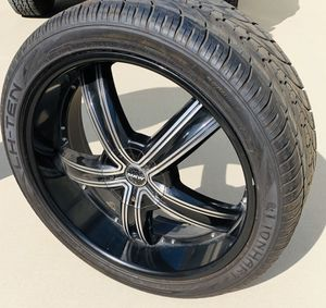 Tires with rims for Sale in Bakersfield, CA