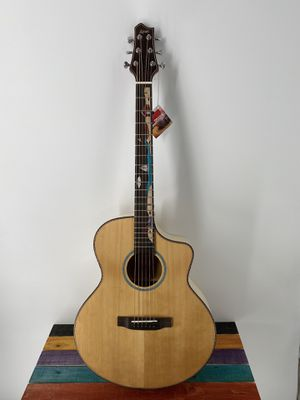 Acoustic Guitar Luxars LX-R6 Acoustic Guitar Cutaway Solid Top Mural Inlay High Quality Killer Price Free Deluxe Gigbag for Sale in Winchester, CA