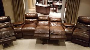 Home Theater 8 piece all electric reclining chairs sofa for Sale in Virginia Beach, VA
