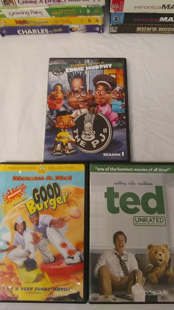 DVD's 3 Piece Set Ted Good Burger PJ's