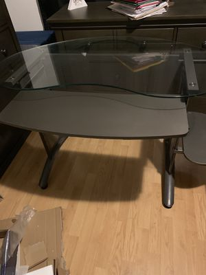 Desk with glass top for Sale in Tracy, CA