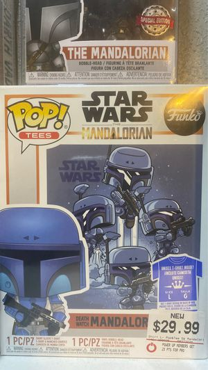 The mandalorian death watch with shirt funko pop for Sale in Bell, CA