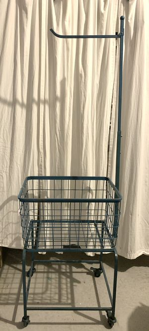 """NEW Vintage Style Blue Laundry Basket on Casters 21.5""""L x 17.5"""""""" x 71""""H $199. Pick up in Palm Bay for Sale in Melbourne, FL"""