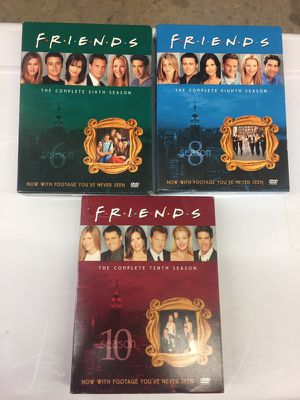 Friends complete 6th, 8th and 10th seasons $45 for Sale in Gaithersburg, MD