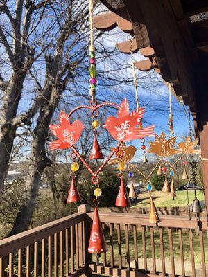 Birds & Heart HandPainted Metal Wind Chimes for Sale in Nashville, TN
