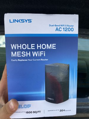 Linksys Velop Whole Home Mesh Dual-Band WiFi 5 Router AC 1200 for Sale in Tarboro, NC