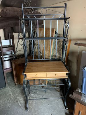 Bakers rack storage displays with 2 drawers for Sale in Highland, CA