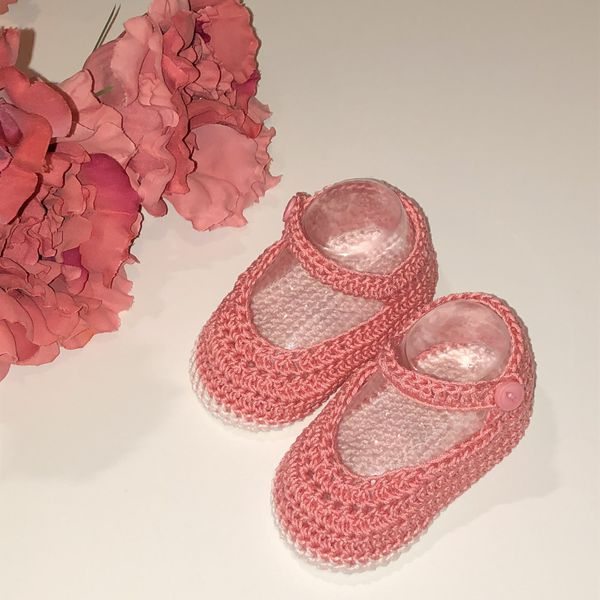 Baby girl crotchet booties - baby knits - baby shoes - hand knit - baby knit - patucos bebe - ropa bebe - baby clothing
