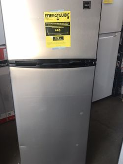 7.5 cu. ft. Refrigerator with Top Freezer in Stainless Look by RCA for Sale in San Dimas,  CA