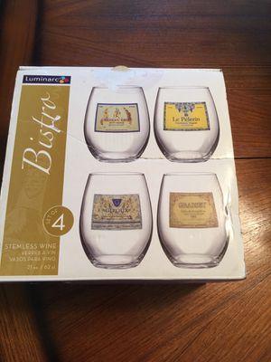 Stemless wine glasses ( new) $6 for Sale in Stockton, CA