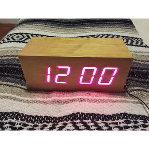 Wood LED Clock for Sale in Los Angeles, CA