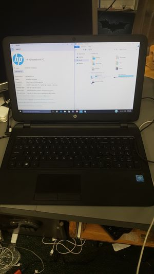 Hp 15 laptop notebook computer intel celeron 4gb ram 500gb hdd win 10 for Sale in Baltimore, MD