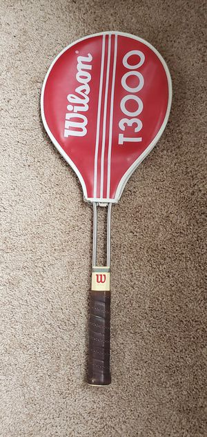 Vintage Wilson T3000 chrome tubular tennis racket with original cover for Sale in Eden Prairie, MN