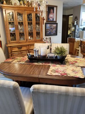 Dining table, 6 chairs and china hutch for Sale in Salina, KS