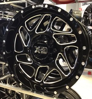 """NEW! 20"""" XD Offroad 836 Gloss Black Silver Rims Wheels 8x6.5 Chevy Dodge 20x9 Moto Fuel for Sale in Tampa, FL"""