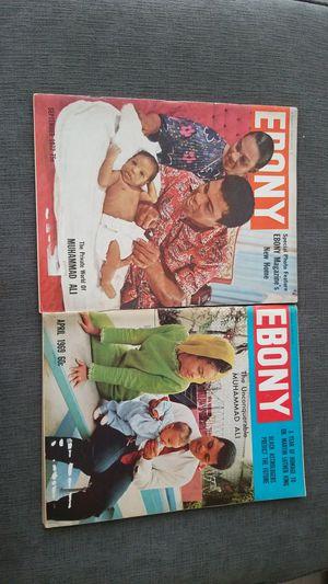 2 Muhammad Ali Ebony Magazines 69-75 for Sale in Silver Spring, MD