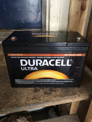 Duracell ultra lead acid battery 12v 100ah AGM for Sale in Saginaw, MI
