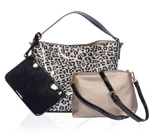 Leopard and Black Vegan Patent Leather Bags for Sale in New York, NY