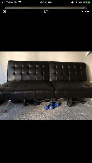 Leather couch (Futon) for Sale in Sacramento, CA