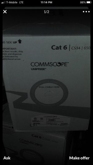 New Commscope CAT6 1000' box (x5) also used boxes for Sale in La Puente, CA