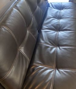 Leather Futon Bed/black Color for Sale in Aloha,  OR