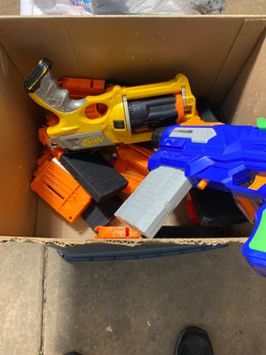 Randomly modified nerf guns and magazines for Sale in Lombard, IL