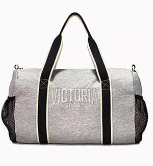 Victoria's Secret Weekender Duffle Sport Gym Bag Side Mesh Pocket Polyester Stash for Sale in Davenport, FL